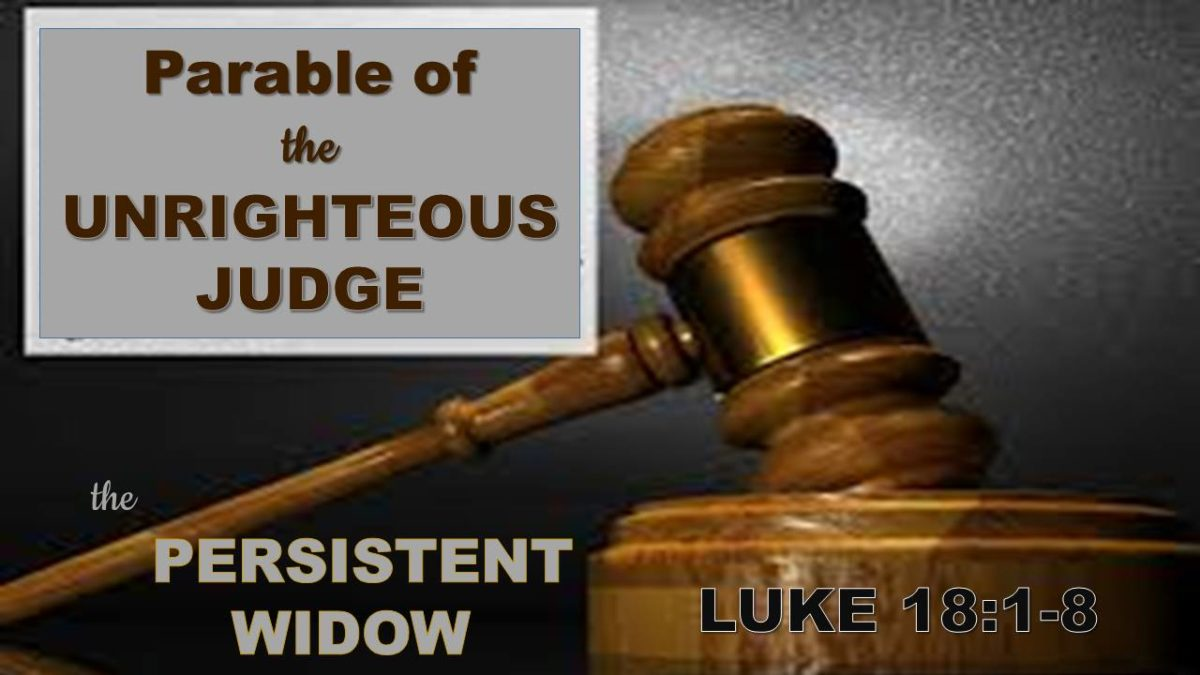 The Persistent Widow: Luke 18.1-8