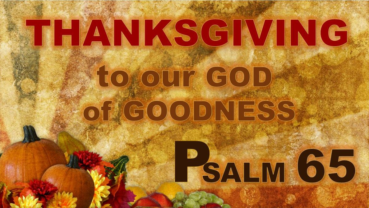 Thanksgiving to Our God of Goodness: Psalm 65